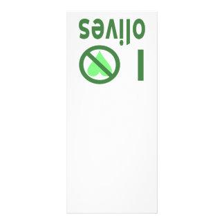 I Hate Olives (Green) Rack Card