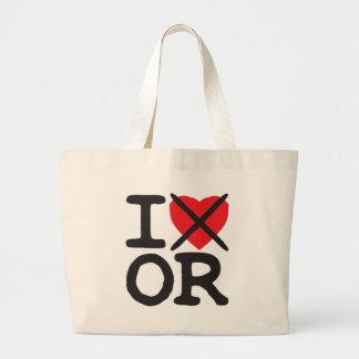 I Hate OR - Oregon Large Tote Bag