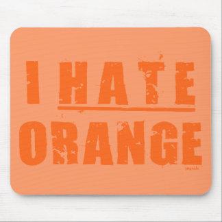 I HATE ORANGE MOUSE PAD