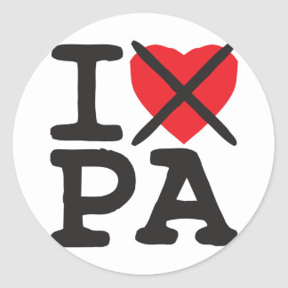 I Hate PA - Pennsylvania Classic Round Sticker