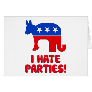 I Hate Parties! Card