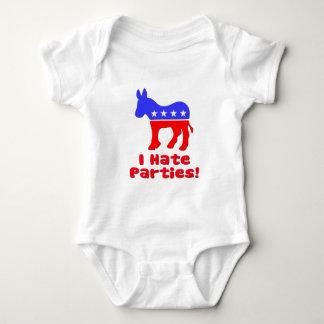 I Hate Parties  Democrat Shirt