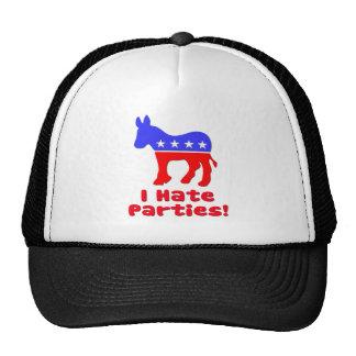 I Hate Parties  Democrat Trucker Hat