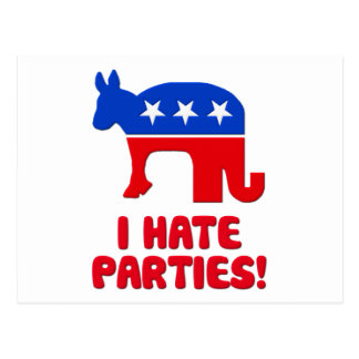 I Hate Parties! Postcard