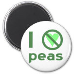 I Hate Peas 2 Inch Round Magnet