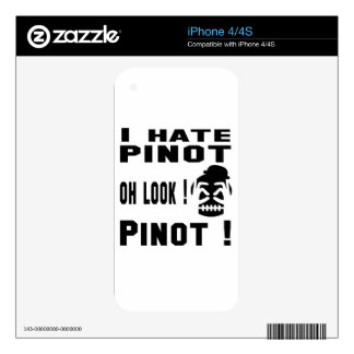 I hate Pinot. Skin For The iPhone 4S