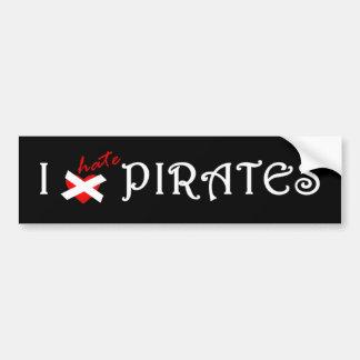 I Hate Pirates Bumper Sticker