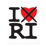 I Hate RI - Rhode Island Postcard