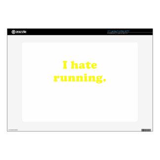 "I Hate Running 15"" Laptop Decals"