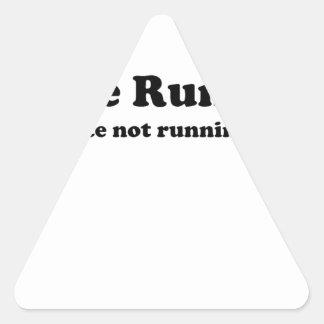 I hate running black.jpg triangle sticker