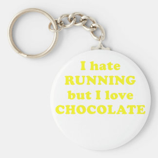 I Hate Running but I Love Chocolate Basic Round Button Keychain