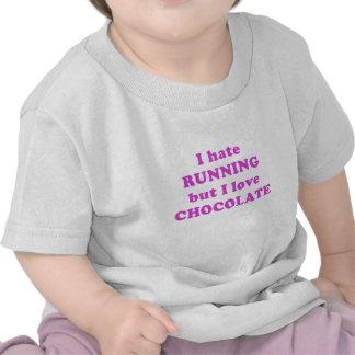 I Hate Running but I Love Chocolate Shirt
