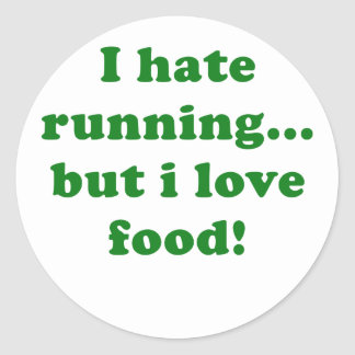 I Hate Running but I Love Food Stickers