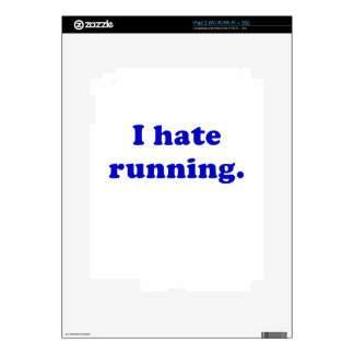 I Hate Running Decal For iPad 2