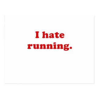 I Hate Running Postcard