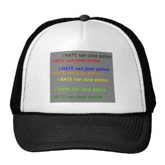 i hate saj  dpsan jose police mesh hats