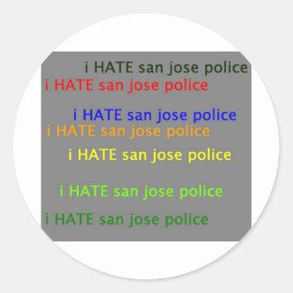 i hate saj  dpsan jose police sticker