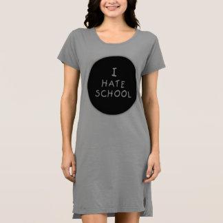 I Hate School Hooded T-Shirt Dress