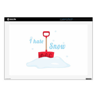 "I Hate Snow 17"" Laptop Decals"