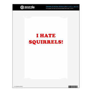 I Hate Squirrels Decal For NOOK