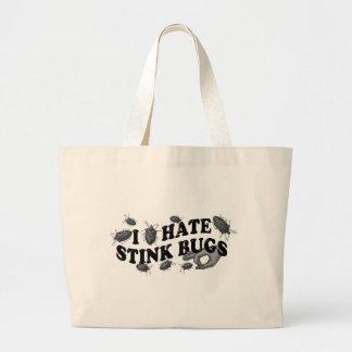 I hate stinkbugs! large tote bag