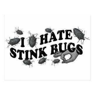 I hate stinkbugs! postcard
