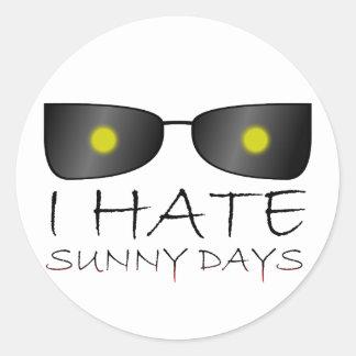 I Hate Sunny Days Classic Round Sticker