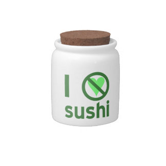 I Hate Sushi Candy Dishes
