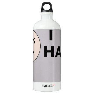 I Hate ... - Template Aluminum Water Bottle
