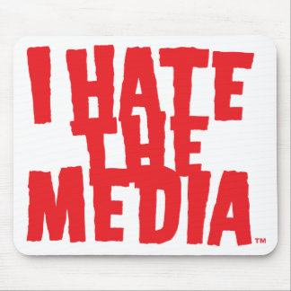 I Hate The Media (scary) Mousepad