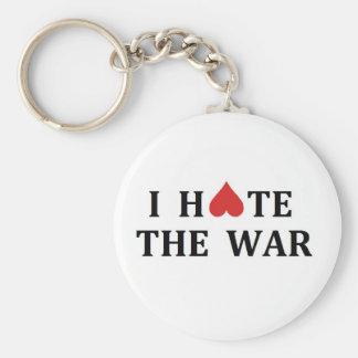 I hate the war basic round button keychain