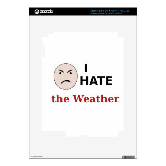 I Hate the Weather iPad 3 Decal