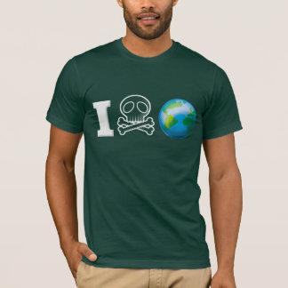 I Hate The World/Earth White T-Shirt