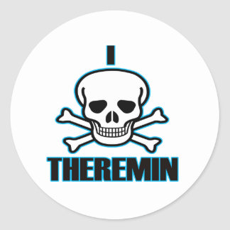 I Hate Theremin. Round Stickers