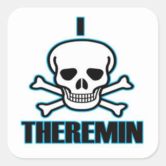 I Hate Theremin. Square Sticker