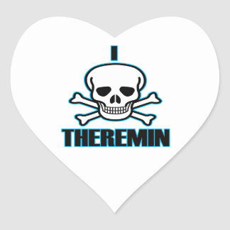 I Hate Theremin. Heart Stickers