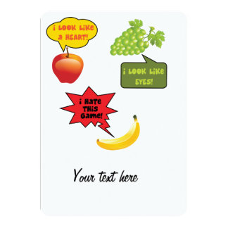 I hate this gam  - banana rage 5x7 paper invitation card