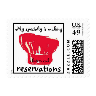 I hate to cook postage stamp