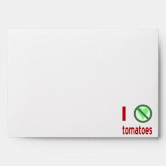 I Hate Tomatoes Envelope