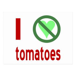 I Hate Tomatoes Postcard