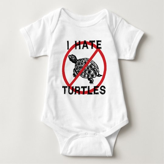 I Hate Turtles Baby Bodysuit