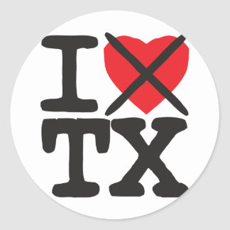 I Hate TX - Texas Stickers