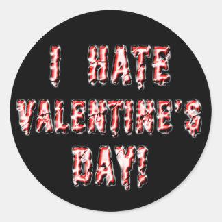 I Hate Valentineu0026#39;s Day Classic Round Sticker