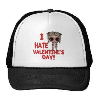 i hate valentines day emo punk girl trucker hat