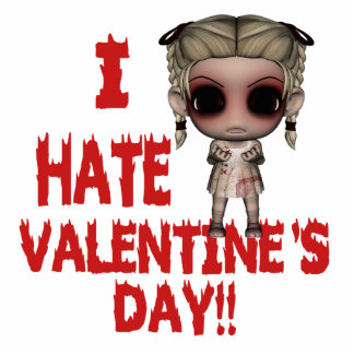 i hate valentines day emo punk girl standing photo sculpture