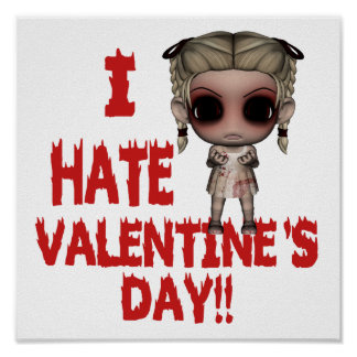 i hate valentines day emo punk girl poster
