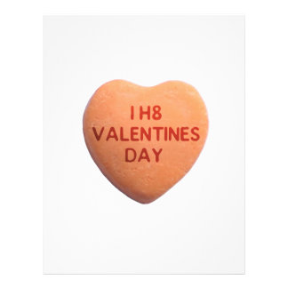 I Hate Valentines Day Orange Candy Heart Flyer