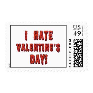 I Hate Valentine's Day Postage Stamp