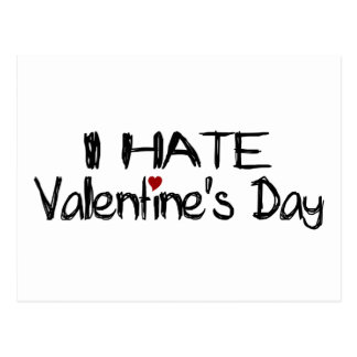 I Hate Valentine'S Day Postcard