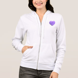 I Hate Valentines Day Purple Candy Heart Hoodie